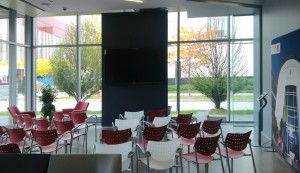 Student seating space & welcome centre at DiscoverYork