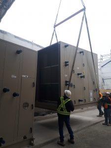 Installation of air handling units at Farquharson